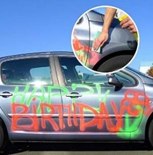 abwaschbares Graffiti-Spray!