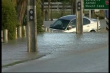 BMW im Hochwasser