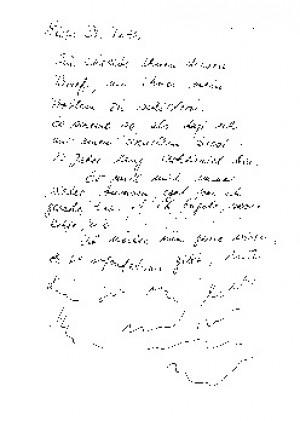 der Brief an Frau Dr. Ruth