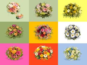 Schöne Blumen-Sträuße