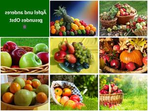 Äpfel und anderes gesundes Obst