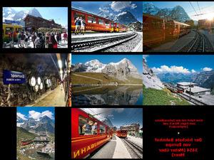 Zahnradbahn Fahrt zum Jungfraujoch