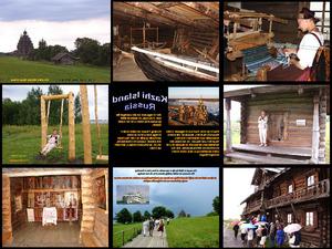 Russlands Historische Traditionelle Holzbauten