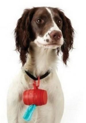Müllbeutelspender fürs Hundehalsband!
