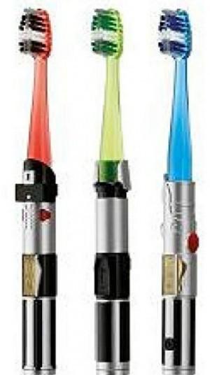 Starwars Leuchtschwert-Zahnbürste!