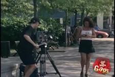 Versteckte Kamera - gelangweilter Filmer