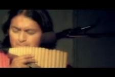 schönes Lied auf der Panflöte