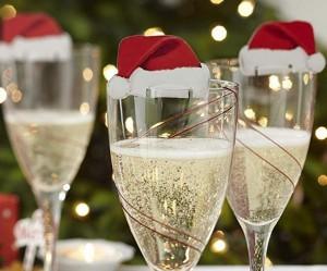 Lustige Weihnachtsdeko für Gläser!