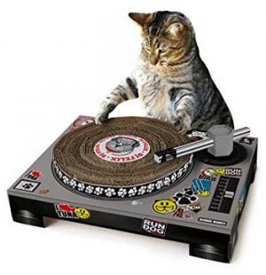 Kratzmatte für Katzen im Plattenspieler-Design!