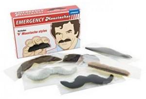 Notfall Schnurrbart-Set zum Aufkleben!