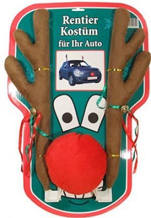Rentier-Kostüm fürs Auto mit Geweih und...