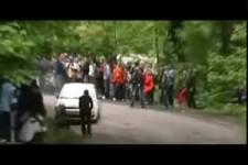 bei der Rally umgefahren