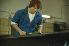 Werbung airbrush-motorhaube