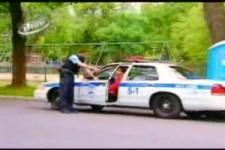 Versteckte Kamera - Polizei-Auto