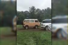 VW T3 gegen Range Rover
