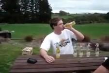 Bier auf Ex trinken