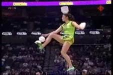 Akrobatik auf einem Rad