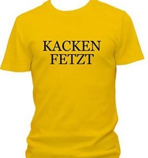 T-Shirt mit eigenwilligem Aufdruck!