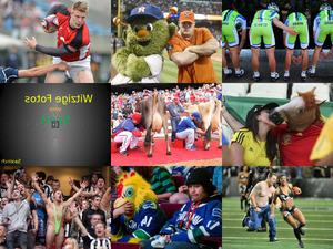 Witzige Fotos bei sportlichen Aktivitäten