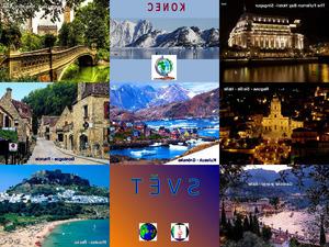 Schöne Städte auf der ganzen Welt