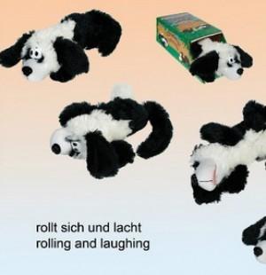 lachender,rollender Hund mit Bewegungsmelder!