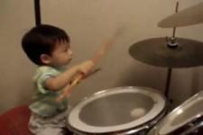 1 year old drummer