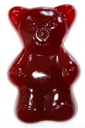 28cm großer, 2kg schwerer Fruchtgummi-Bär in rot!