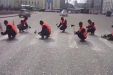 Zebrastreifen entfernen - auf russische Art