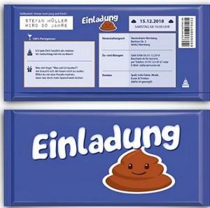 Schokoladen-Einladungskarte!