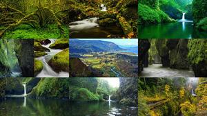 Columbia River Gorge Portland Oregon.E
