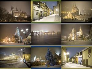 Prag in der Nacht - Winter