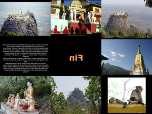 Monasterio Taung Kalat in Myanmar
