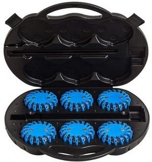 Kofferset mit 6 blauen High Power LED Warnleuchten!
