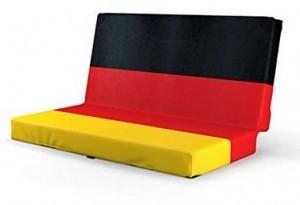Klappbares Sitzkissen in Deutschlandfarben!