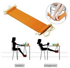 Schreibtisch-Hängematte für die Füße!