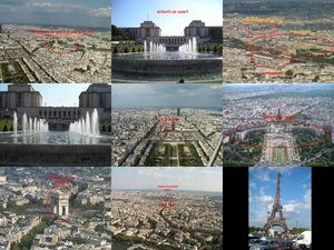 Aussicht vom Eiffel Turm