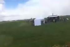 der Bauer will die Camper entfernen...