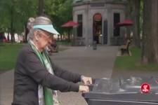 Versteckte Kamera - Oma und die Mülltonne