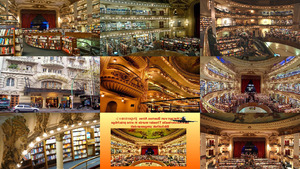 Argentinien Theater als Bibliothek umgewandelt