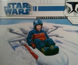 Aufblasbarer Star Wars Schlitten!