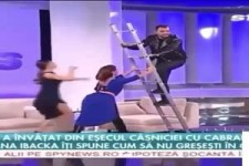 Leiter-Akrobatik