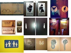 Toilettenschilder dieser Welt