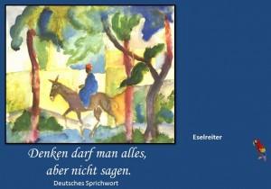 Sprueche mit Gemaelde August Macke 4