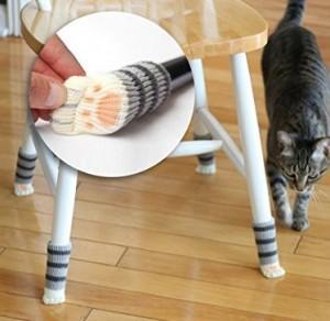 Katzenpfoten-Socken für Stuhlbeine!