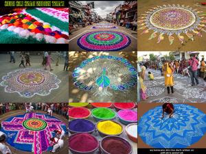 Strassenkunst in Indien