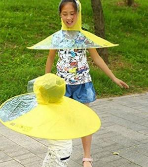 Lustiger Regenschirm-Hut für Kinder!