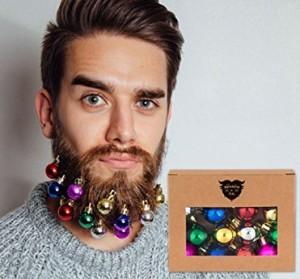 Weihnachtskugeln für den Bart!