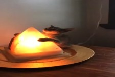 Sie liebt ihre Lampe
