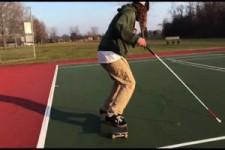 Ein blinder Skater