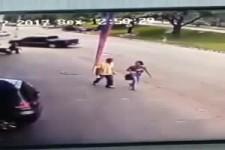 Vom Reifen getroffen